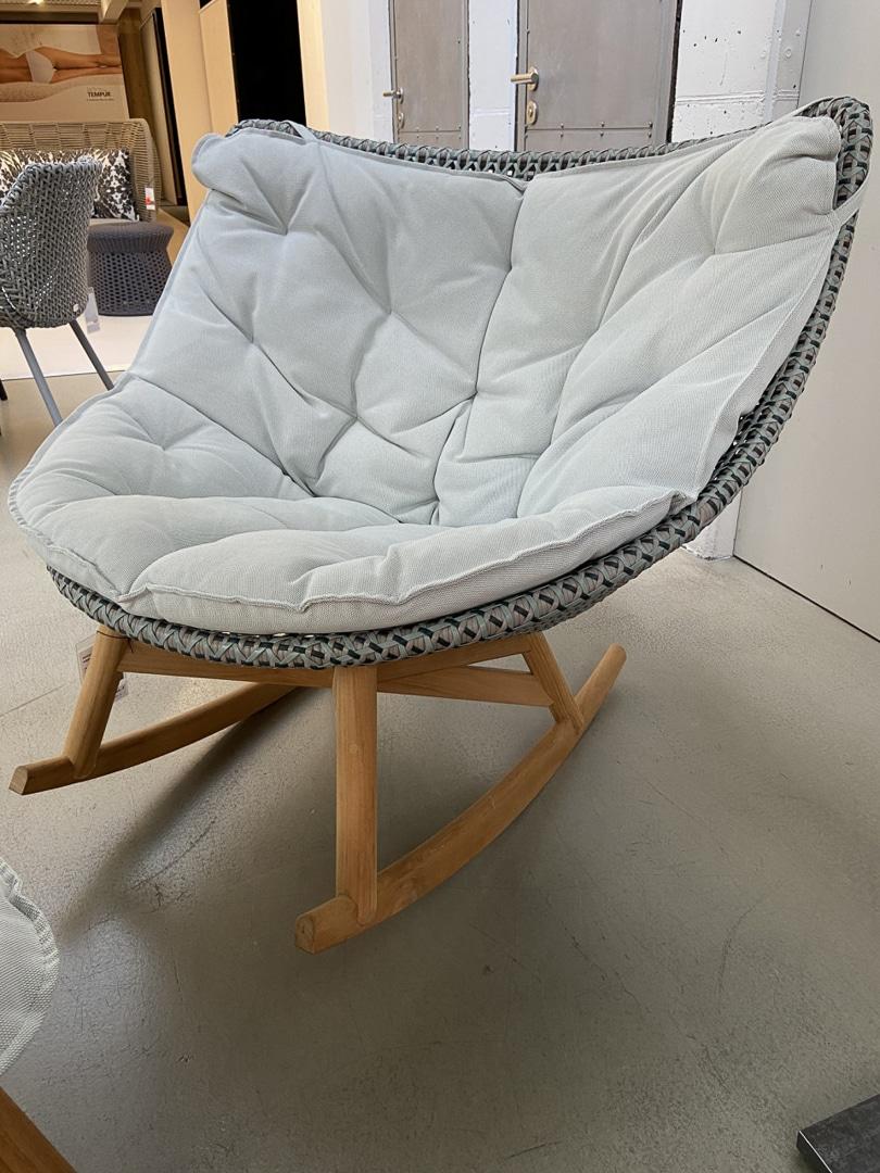 Rocking-Chair MBRACE outdoor von Dedon (inklusive Sitzkissen)